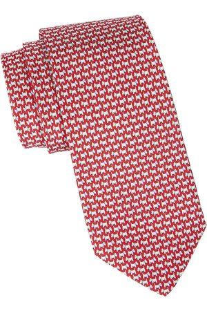 Salvatore Ferragamo Men's Scottish Terrier Patterned Silk Tie