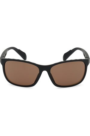 adidas Men's 63MM Square Injected Sunglasses - Matte