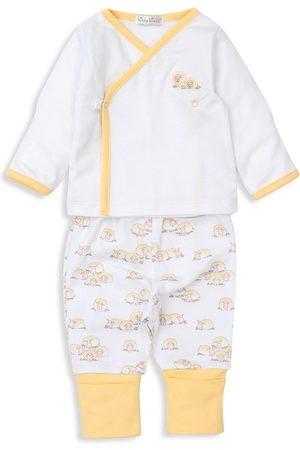 Kissy Kissy Baby's Sheep Siesta 2-Piece Wrap Top & Pants Set - - Size 3 Months
