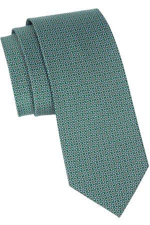 Salvatore Ferragamo Men's Gancini-Print Silk Tie