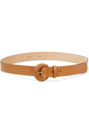 Lafayette 148 New York Women's Wrapped Buckle Leather Belt - Copper - Size Small