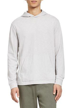 THEORY Men's Slub Cotton Layer Hoodie - Plush - Size Small