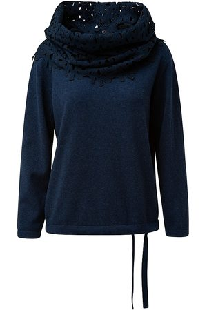 AKRIS Women's Cashmere Sweater with Detachable Scarf - Deep - Size 2