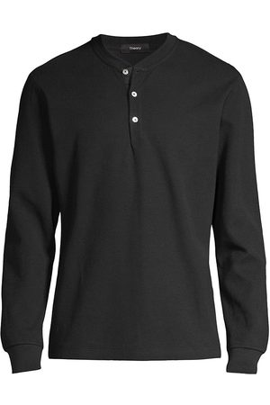 THEORY Men's Classic Long-Sleeve Henley Shirt - - Size Small