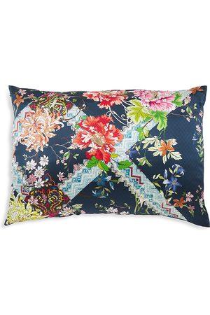 Johnny Was Decklyn Floral-Print Silk Pillowcase