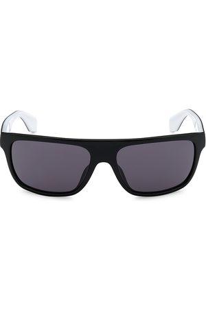 adidas Men Square - Men's 59MM Injected Square Sunglasses - Shiny Smoke