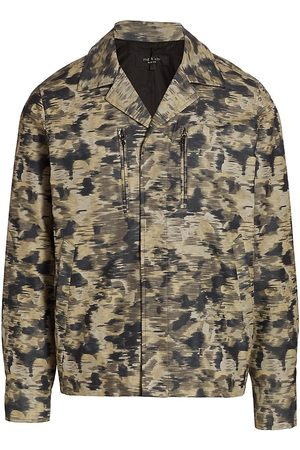 Rag & Bone Men Denim Jackets - Men's Camo Finlay Shirt Jacket - Camo - Size Large