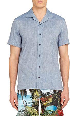 Orlebar Brown Men's Hibbert Linen-Blend Shirt - Wash - Size Large