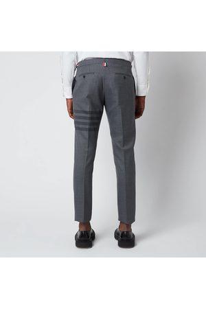 Thom Browne Men's Low Rise Skinny Side Tab Trousers