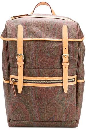 Etro Men Rucksacks - Paisley print backpack