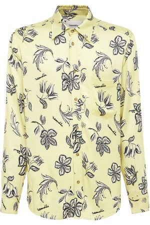 Nanushka Kaleb Printed Viscose L/s Shirt