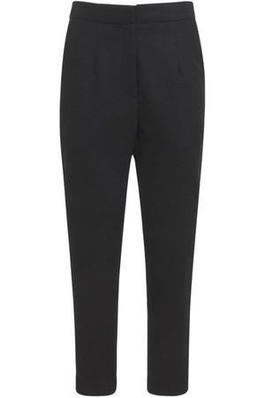 CREM38 Jill High Waist Stretch Wool Pants