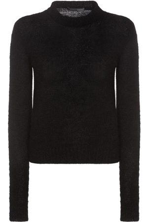 Alberta Ferretti Mohair Blend Knit Crewneck Sweater