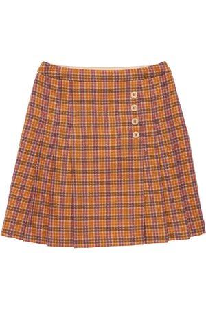 Gucci Check Wool Skirt