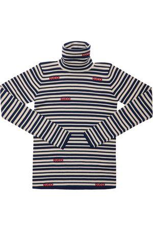 Gucci Striped Wool Knit Turtleneck Sweater
