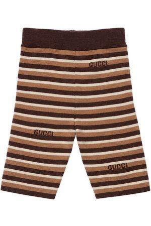 Gucci Striped Wool Intarsia Knit Bermuda Pants