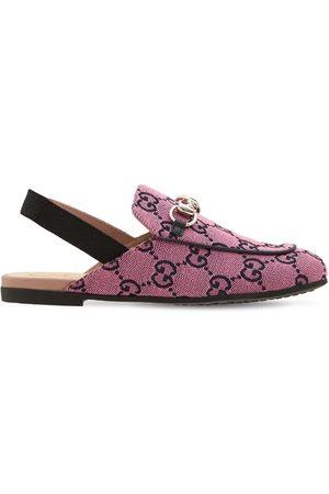 Gucci Princetown Slide Gg Canvas Sandal
