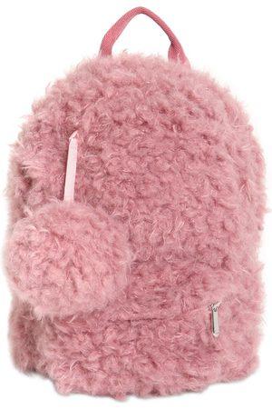 Il gufo Faux Fur Backpack W/ Pompom