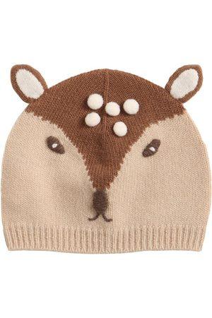 Il gufo Baby Deer Virgin Wool Hat W/ Ears