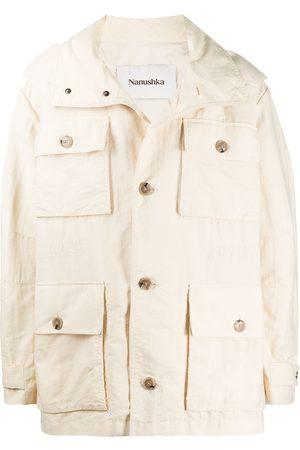 Nanushka Men Rainwear - Bart hooded rain jacket - Neutrals