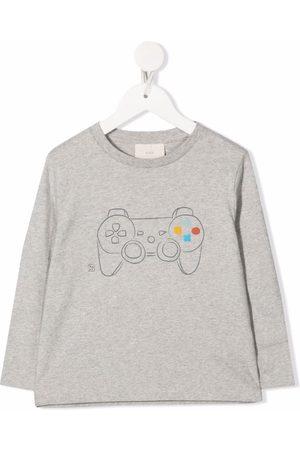 KNOT Boys Long Sleeve - Graphic-print long-sleeved T-shirt - Grey