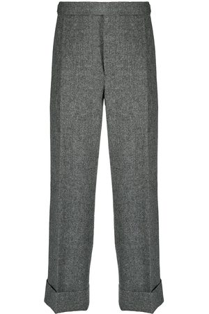 Thom Browne Men Formal Pants - Cropped tailored trousers - Grey
