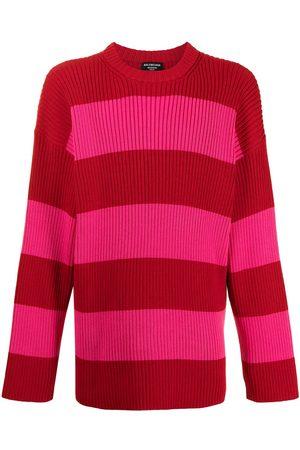Balenciaga Men Sweatshirts - Oversize striped logo jumper