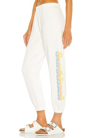Spiritual Gangster Sunkissed Perfect Terry Sweatpant in White.