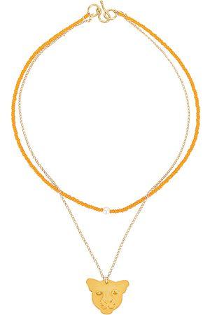 Mercedes Salazar Yellow Jaguar Necklace in Metallic .