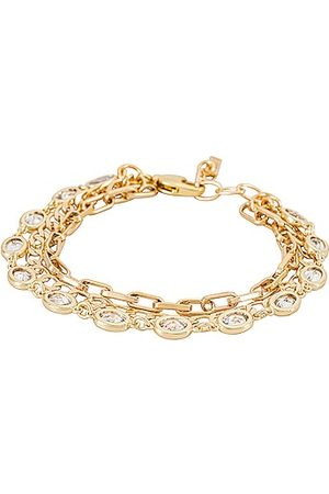 Natalie B Jewelry Sutton Three Strand Bracelet in Metallic .