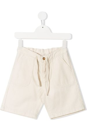 Knot Elasticated-waistband shorts - Neutrals