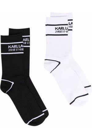 Karl Lagerfeld Women Socks - Logo sports socks 2-pack