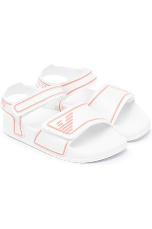 Emporio Armani Boys Sandals - Touch-strap embossed logo sandals