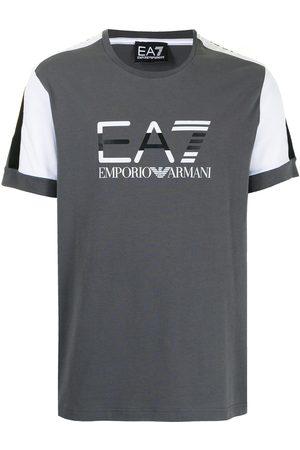 EA7 Men T-shirts - Graphic-print cotton T-Shirt - Grey