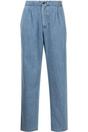 Armani Elasticated-waist denim trousers