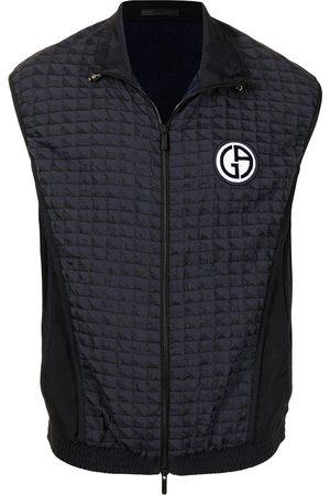 Giorgio Armani Men Waistcoats - Logo-patch zipped waistcoat
