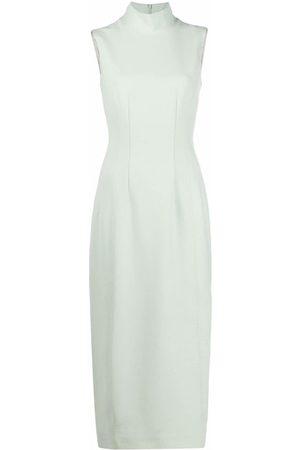 12 STOREEZ Women Midi Dresses - High-neck sleeveless midi dress