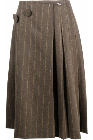 MM6 MAISON MARGIELA Pinstripe pleated midi skirt