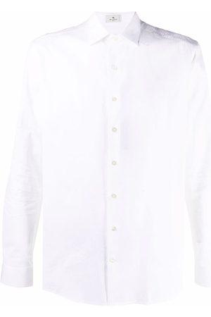 ETRO Paisley detail cotton shirt