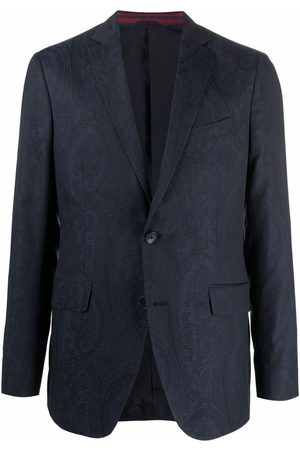 Etro Paisley pattern single-breasted blazer