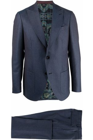 Etro Single-breasted faded pinstripe suit