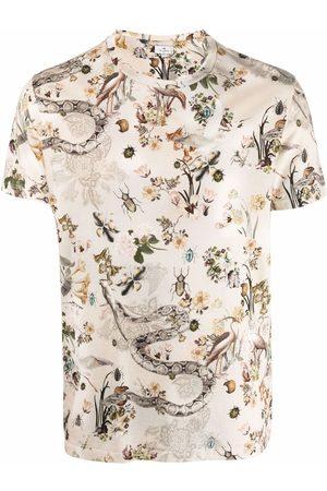 Etro Plant patterns T-shirt - Neutrals