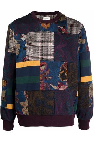 ETRO Patchwork jersey crewneck sweatshirt