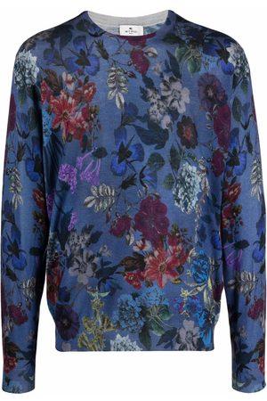 Etro Floral-print silk-cashmere jumper