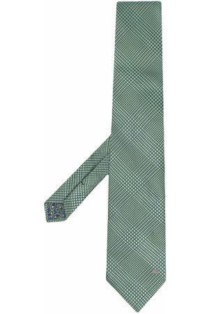 Etro Men Bow Ties - Checked silk scarf