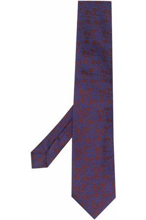 Etro Logo-embroidered silk tie