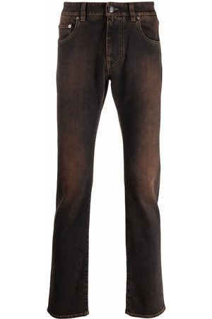 ETRO Faded-effect straight leg jeans