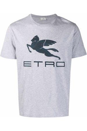 Etro Men T-shirts - Logo-print crew neck T-shirt - Grey
