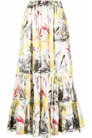 Etro Women Maxi Skirts - Embroidered A-line maxi skirt
