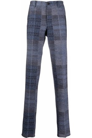 Etro Men Formal Pants - Woven-check tailored trousers